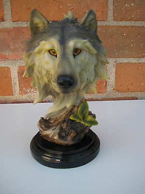 Wolf Head Bust Collectible Decoration Figurine home Decor