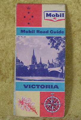 1964 MOBIL ROAD MAP GUIDE of VICTORIA. 12 panels per side.