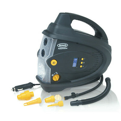 Rac640 Ring 12V Digital Air Compressor + Inflator & Deflator (Compressors)