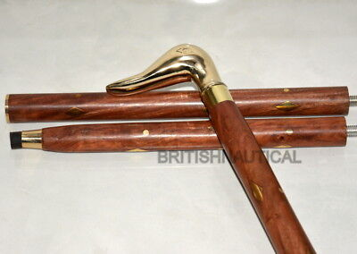 Vintage Brass Design  Duck Head Walking Stick Cane Handle Ollectible Gift