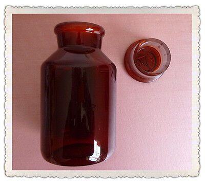 500ml Amber Glass Reagent bottle,Wide mouth,with ground stopper,None Graduation