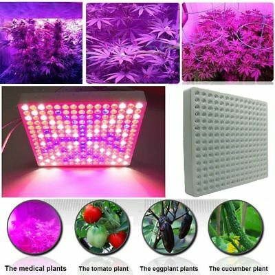 500W Full Spectrum LED Grow Light Panel ABS Case With Fan For Bloom Plant L7E3A