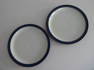 "Denby Imperial Blue 2 x 10.25"" Dinner Plates-lot 2"