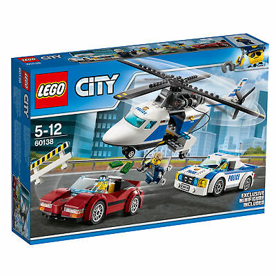 60138 Lego City Police High-Speed Chase 294 Pieces Age 5-12 New Release For 2017