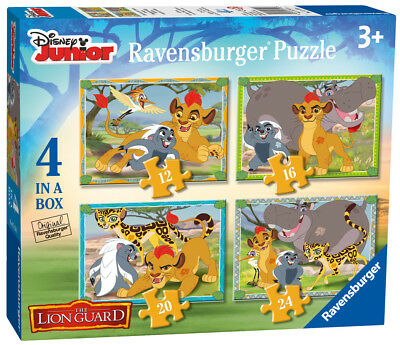 07158 Ravensburger Disney The Lion Guard Jigsaws 4-in-a-Box Puzzles Kids 3+