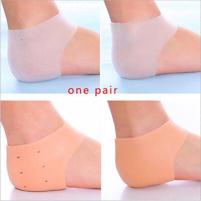 1Pair soft sticky silica gel fabric shoe pad liner  back heel insert-insole TEUS