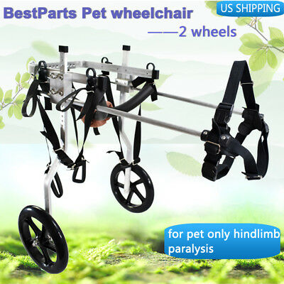 Stainless Steel Pet/Dog Wheelchair for Handicapped    Medium  Dog 8.8-49.6lb
