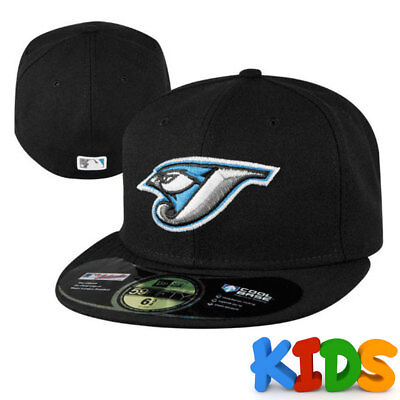 Toronto Blue Jays Officially Licenced MLB KIDS New Era 59FIFTY Fitted Cap Black