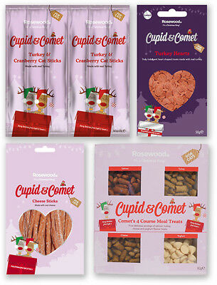 Comet's 4 Course Meal Cheese Sticks Turkey & Cranberry Hearts Cat Treats