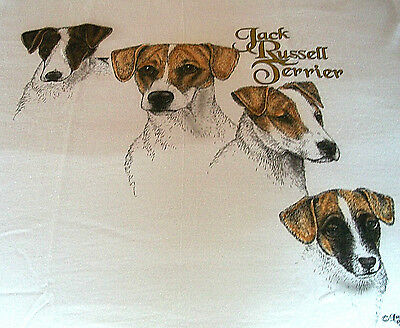 """Jack Russell Terrier T-shirt  """" White """"  Large ( 42 ~ 44 )"""