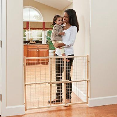 Pressure Mount Wood Gate Child Door Dog Fence Evenflo Position and Lock Tall