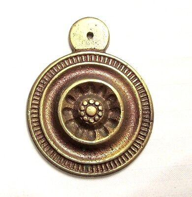 "1 7/8"" Long Brass Plate - Keyhole Cover? - A734"