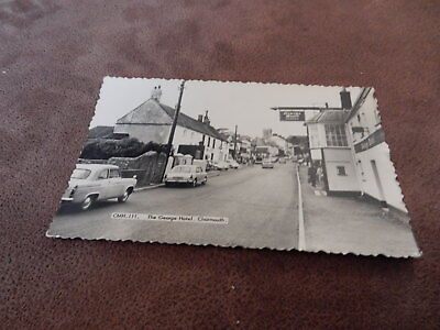 Early real photo postcard- George Hotel - Charmouth Nr Bridport Dorset -old cars