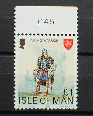 Isle of Man MNH 1978 Definitive Issue High Value £1 Stamp Viking Warrior