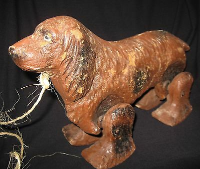 See-Em-Walk Toy Dog - Noma USA - Spaniel Setter Walker - ANTIQUE 1940's