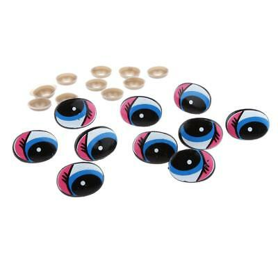 10Pcs Plastic Safety Cartoon Moving Eyes for Puppet Animal Toys Design