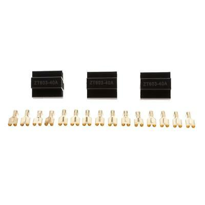 3 Sets Car Truck 40Amp Car Relay Socket Holder 5Pin Connector with Terminals
