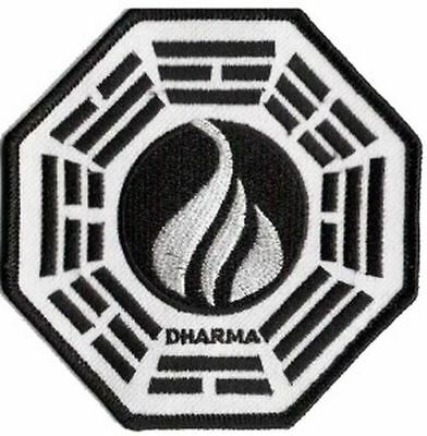 Lost bestickter Aufnäher Logo Dharma Station Flamme initiative Patch