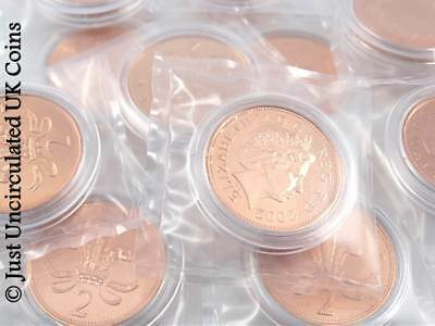 1971 - 2008 Two Pence BUNC Coins - Various Years - GB Royal Mint 2p BU Coins