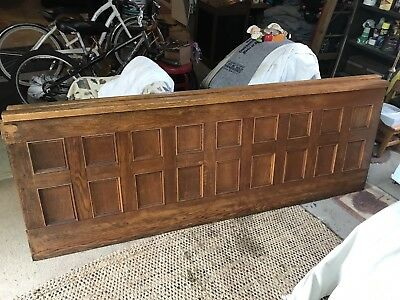 """Pair 91"""" Tiger Oak Church Bannister Divider Bar Back Wall Panel Free Delivery"""