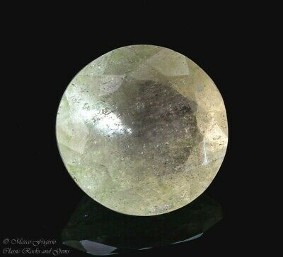 Libyan Desert Glass LDG Faceted Gem Cut Meteorite Impactite 7.8 ct 14 mm