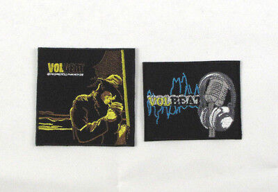 VOLBEAT Iron On Sew On Embroidered Patch Metal Music Band 2 Designs