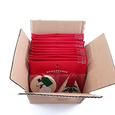 Gift Tags Christmas Wooden Lot of 48 See Designs Snowman Tree Holiday Target