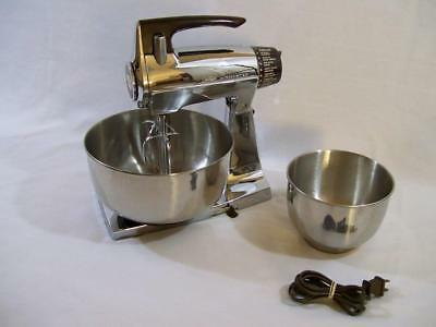 VINTAGE Retro 50s SUNBEAM MixMaster 12-Speed STAND MIXER CHROME*SUPER CLEAN*