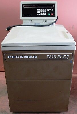 Beckman J2-21M High Speed Refrigerated Centrifuge with 20k RPM Rotor JA-20 Works