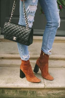 05149e4f042 ZARA BROWN SUEDE LEATHER HIGH HEEL ANKLE BOOTS s.EU 41 UK8 US 10 Ref ...