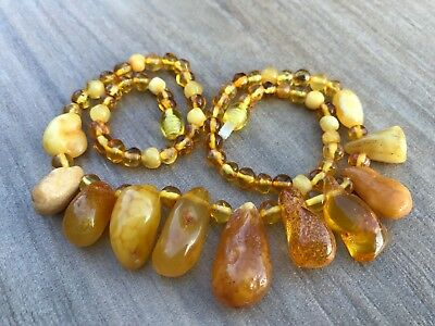 Amber genuine Baltic stone ladies necklace collar 21 gr. Bernstein hupo #507