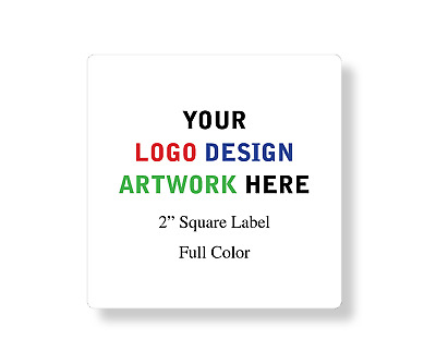"""100 Square 2"""" Custom Professional Company Business Design Labels Stickers"""