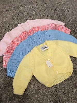 Babies Hand Knitted Cardigans Newborn
