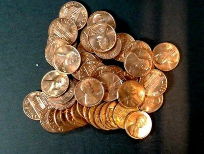 1972-P BU Roll Of  Lincoln  Cent  Brilliant  Uncirculated   Nice coins  FSH