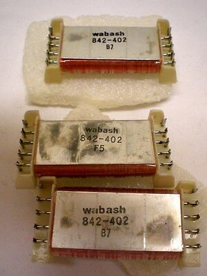 12 Reed Relays, 3 Open Type, 9 Sealed Type, WABASH# 843-302, 842-402 Made in USA