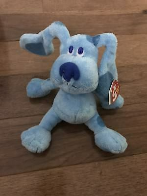Ty Beanie Baby ~ BLUE the Nick Jr. Blues Clues Dog Mint With Tag RARE