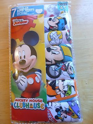 Boys 4T Briefs Underwear Mickey Mouse Clubhouse 7 Pack Assorted Designs NIP