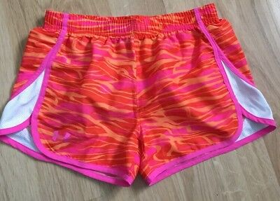 Under Armour Shorts Youth Large Heat Gear Pink And Orange