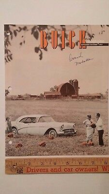1957 BUICK Magazine - Sept/Oct Issue- Color Brochure - Very Good Condition (US)