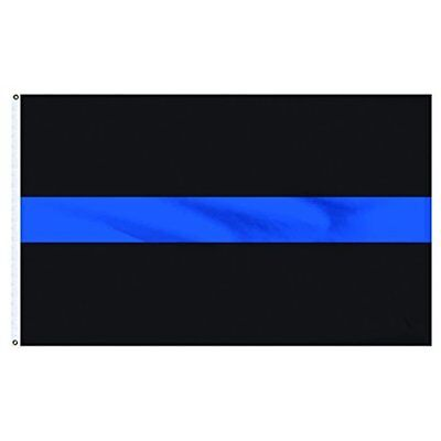 3x5 Thin Blue Line Flag Police Law Enforcement Officer LEO Lives Matter Support