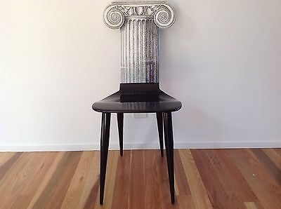Piero Fornasetti Corinthian Column Chair Milano Made In Italy