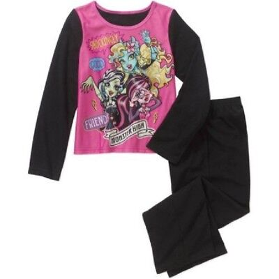 Monster High Girls' Licensed 2-Pc Fleece Pajama Set Size 10-12