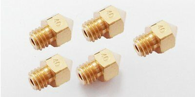 5X 3D Printer MK7/MK8 Extruder Nozzle 0.4MM Print Head for Makerbot RepRap Prus