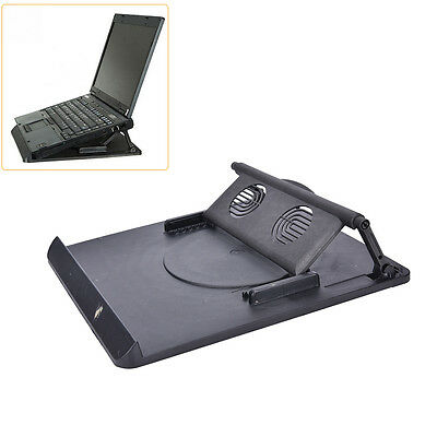 Laptop Holder Cooling 360° Rotation Stand Mount Notebook Table Desk Swivel Tray: