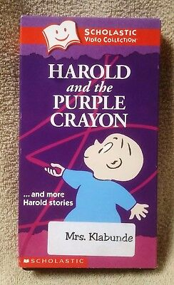 Harold The Purple Crayon Scholastic Video Collection Vhs Tape