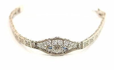 Unique  Antique (Early 1900) Filigree Design Sterling Silver  Bracelet
