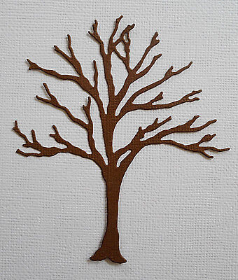 Bare Tree Paper Die Cuts x 8 Scrapbooking Embellishment - Not a Die