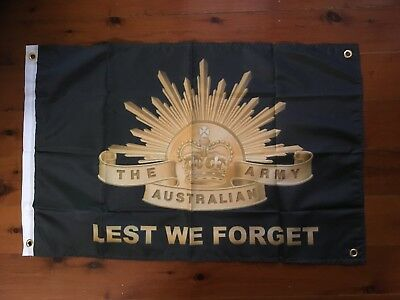 lest we forget army flag veterans world war 2 Vietnam Man cave wallhanging shed