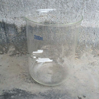 20000mL Borosilicate Glass Beaker,20L Low Form,Spout Mouth,Lab Glassware