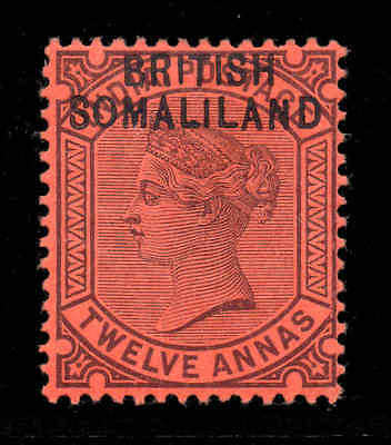 Somaliland 1903 o/p on India QV 12a SG 9 mint